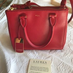 Lauren Ralph Lauren Winford Leather Satchel